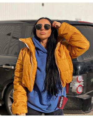 81288-6 оранжевая SRT куртка женская на синтепоне (4 ед. размеры:S.M.L.XL)