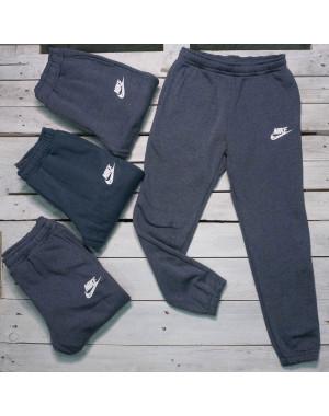 1418-5 теплые мужские спортивные брюки на флисе микс 2-х цветов (3 ед. размеры: M.L.L)