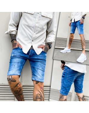 0256-01 Mario Cavallini шорты джинсовые мужские рваные стрейчевые (29-36, 9 ед.)