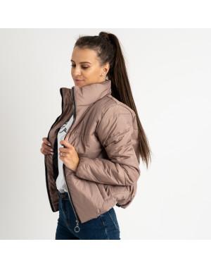 0410-2 мокко куртка женская на синтепоне ( 3 ед. размеры : 42.44.46)