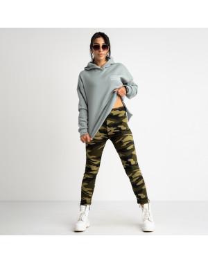 0901 Li Ruo Ya спортивные брюки женские камуфляжные на флисе (5 ед. размеры: универсал 44-48 )