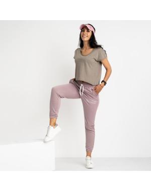 1433-17 Mishely фрезовые женские спортивные брюки из двунитки (4 ед. размеры: S.M.L.XL)