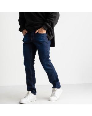 2125 Dsouaviet синие джинсы на флисе мужские стрейчевые  (8 ед. размеры: 29.30.31.32.33.34.36.38)