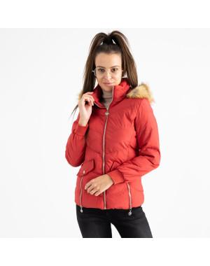 6936-3 куртка красная женская на синтепоне (6 ед. размеры: M.L.2XL/2.3XL.4XL)