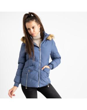6936-2 куртка голубая женская на синтепоне (6 ед. размеры: M.L.2XL/2.3XL.4XL)