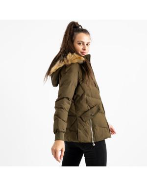 6936-4 куртка хаки женская на синтепоне (6 ед. размеры: M.L.2XL/2.3XL.4XL)