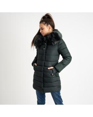 1089 зеленая куртка женская на синтепоне (4 ед. размеры: M.L.XL.XXL)