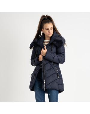 18806-2 синяя куртка женская на синтепоне (4 ед. размеры: M.L.XL.XXL)