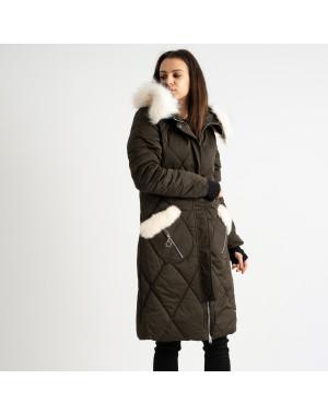 9915-4 хаки куртка женская на синтепоне (4 ед.размеры: M.L.XL.XXL)
