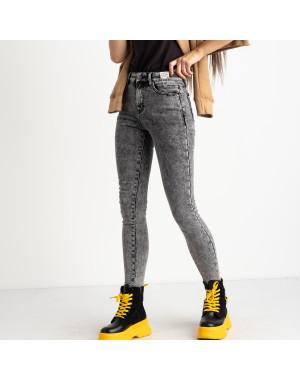 6050 New Jeans американка на флисе серая стрейчевая (6 ед.размеры: 25.26.27.28.29.30)