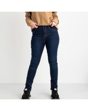 6042 New Jeans американка  на флисе батальная синяя стрейчевая (6 ед.размеры: 31.32.33.34.35.36)