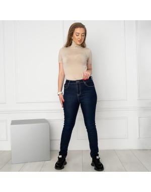 6046 New Jeans американка на флисе полубатальная синяя стрейчевая (6 ед.размеры: 28.29.30.31.32.33)