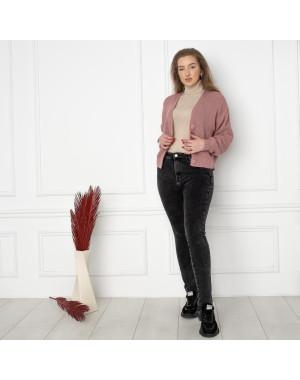 6018 New Jeans американка на флисе полубатальная серая стрейчевая (6 ед.размеры: 28.29.30.31.32.33)