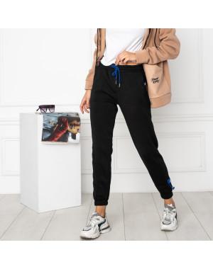 0010-1 черные спортивные штаны женские на флисе (6 ед.размеры: S.M.L.XL.XXL.3XL)