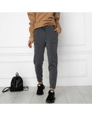 0011-5 темно-серые спортивные штаны женские на флисе (6 ед.размеры: S.M.L.XL.XXL.3XL)
