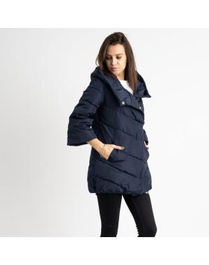 8661-2 синяя куртка женская на синтепоне рукав 3/4  (4 ед .размеры:L.XL.2XL.3XL)