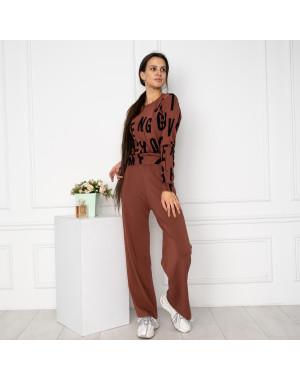 1608-4 M.K.Store коричневый спортивный костюм женский (3 ед.размеры: универсал 44-48)