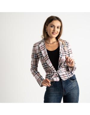 9911 бежевый пиджак в клетку женский ( 5 ед.размеры: 42-46 )