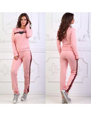 0023 розовый женский спортивный костюм (42,42,44,48, 4 ед.)
