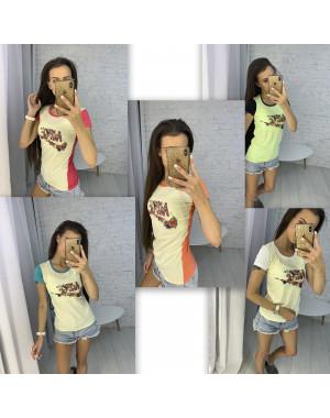 3706 футболка женская микс цветов без выбора цветов (10 ед. размеры: универсал 42-44)