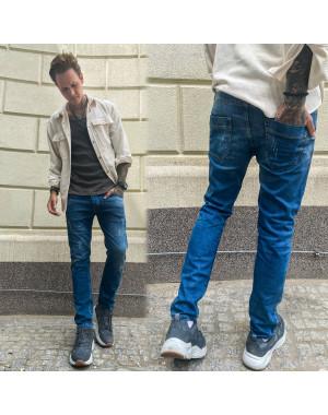 4201 Fashion Red джинсы мужские с царапками синие весенние стрейчевые (29-36, 8 ед.)