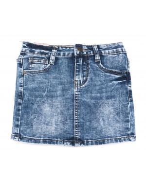 0094 Miss Happy юбка на девочку синяя весенняя стрейчевая (23-28, 6 ед.)