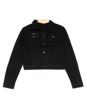 0825 New Jeans куртка джинсовая женская черная весенняя стрейчевая (XS-XXL, 6 ед.)
