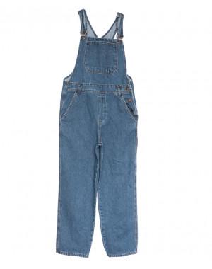 3492 комбинезон джинсовый женский синий осенний коттоновый (XS-L, 6 ед.)