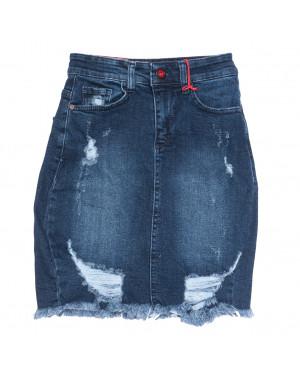 0803 Redmoon юбка джинсовая с рванкой синяя осенняя коттоновая (25-30, 6 ед.)