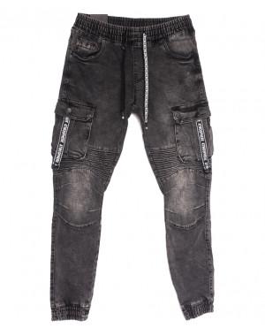 20023 Viman джинсы мужские на резинке серые осенние стрейчевые (31-40, 5 ед.)