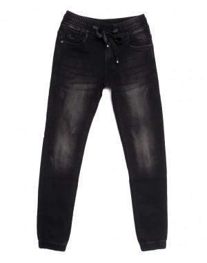 1528 Bagrbo джинсы мужские молодежные на резинке с царапками серые осенние стрейчевые (28-36, 8 ед.)