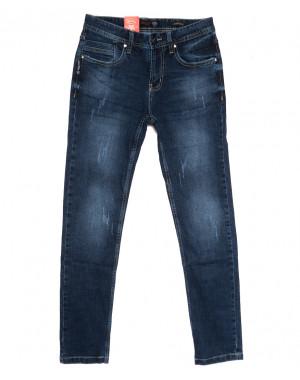 0910-3 R Relucky джинсы мужские молодежные с царапками синие осенние стрейчевые (28-36, 8 ед.)