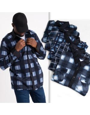 16116  мужская рубашка полубатальная на байке микс цветов (5 ед .размеры: 2XL.3XL.4XL.5XL.6XL)