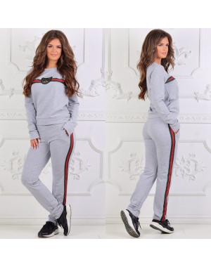 0023 серый женский спортивный костюм (44, 1 ед.)