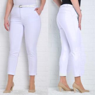 9788-B (GS9788B) Moon girl брюки женские батальные 7/8 белые весенние стрейчевые (30-42, 12 ед.) Moon Girl: артикул 1090756