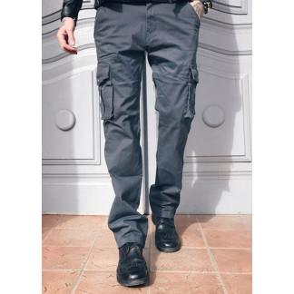 """1672-7 Iteno серые (30-38, 6 ед.) """"классика"""" мужские брюки с накладными карманами в коттоне Iteno: артикул 1064489_1"""