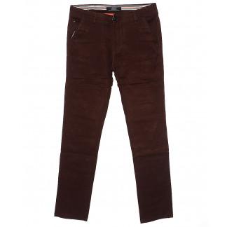 0050-31 Feerars брюки мужские молодежные с косым карманом коричневые весенние стрейчевые (28-36, 8 ед.) Feerars: артикул 1087772