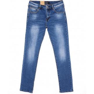 2069 Fang джинсы мужские зауженные с теркой весенние стрейчевые (30-38, 8 ед.) Fang: артикул 1087816