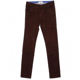 0668-31 Disvocas брюки мужские молодежные с косым карманом коричневые весенние стрейчевые (28-36, 8 ед.) Disvocas: артикул 1088512