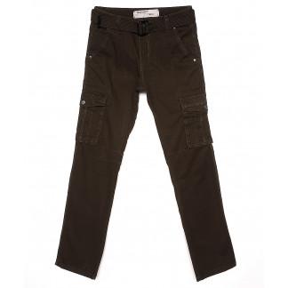 1672-4 Iteno брюки мужские карго хаки весенние стрейч-котон (30-38, 6/12 ед.) Iteno: артикул 1088619