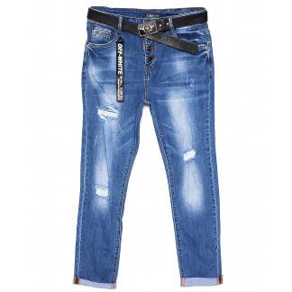 6091-2 Like джинсы женские батальные с рванкой и царапками весенние стрейчевые (28-33, 6 ед.) Like: артикул 1089361