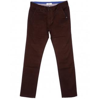 0672-31 Disvocas брюки мужские батальные коричневые весенние стрейчевые (32-36, 8 ед.) Disvocas: артикул 1089689