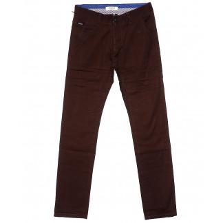 0671-31 Disvocas брюки мужские коричневые весенние стрейчевые (30-38, 8 ед.) Disvocas: артикул 1089690