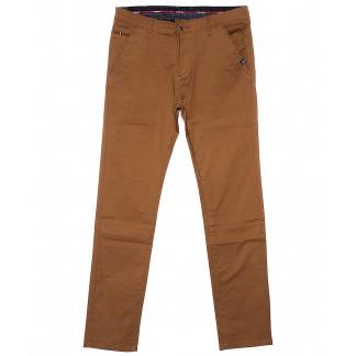 0133-5 Disvocas брюки мужские светло-коричневые весенние стрейчевые (29-38, 8 ед.) Disvocas: артикул 1090585