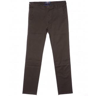 0130-4 Disvocas брюки мужские молодежные коричневые весенние стрейчевые (27-34, 8 ед.) Disvocas: артикул 1090586