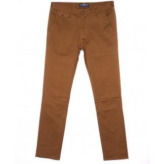 0132-5 Disvocas брюки мужские молодежные светло-коричневые весенние стрейчевые (28-36, 8 ед.) Disvocas: артикул 1090588