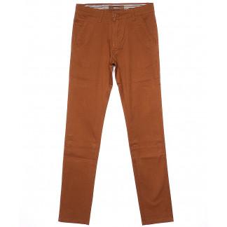 0049-37 Feerars брюки мужские молодежные светло-коричневые весенние стрейчевые (28-36, 8 ед.) Feerars: артикул 1090589