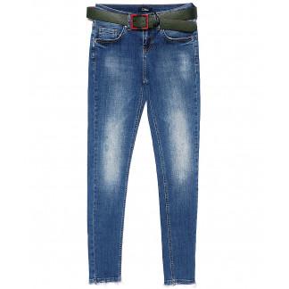 9426-627 Colibri джинсы женские зауженные с теркой весенние стрейчевые (25-30, 6 ед.) Colibri: артикул 1090736