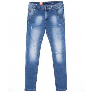2072 Crossness джинсы мужские молодежные с рванкой весенние стрейчевые (27-34, 8 ед.) Crossness: артикул 1090999