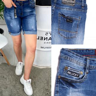 Шорты джинсовые женские с царапками ( A 0617-15 ) Relucky: артикул 1091053